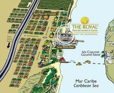 Location Map for THE ROYAL Playa del Carmen