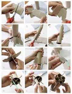 Toilet Paper Roll Rocket DIY The site is in Thai so you will need to use Google Translate for the site!