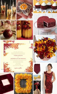 Love these color schemes even though we are having a spring wedding.