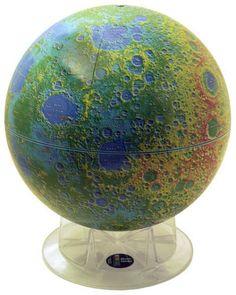 MOON Topographic Globe (Free Shipping)