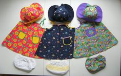 ONE Little Girl's Sun Dress Bloomers and Hat Set  by SeamsByTeri, $20.00