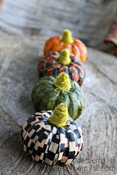fabric covered pumpkins
