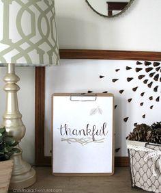 Free Thanksgiving Print