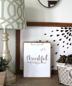 Adorable free Thanksgiving print!  A perfect sentiment for year round.