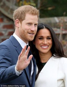 The royal looked nervous but happy and his fiancee stroked his arm lovingly as they spoke ...