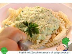 Fusilli mit Zucchinisauce - veganes Baby led weaning Rezept für BLW-Anfänger ab 6 Monaten