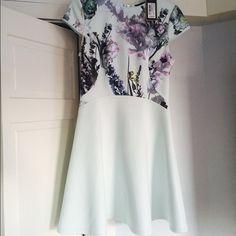Ted Baker Skater Dress in Floral Pale green floral print skater dress by Ted Baker. New with tags. Ted Baker Dresses Mini