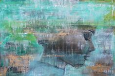 Ingeborg Herckenrath - Angie #kunst #art #portret #green