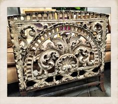 Antiques Window grate, made by Robert Woods Co, Philadelphia, PA.  19th Century piece, $410.