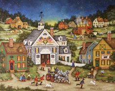 A piece by one of my favorite folk art painters, Bonnie White.