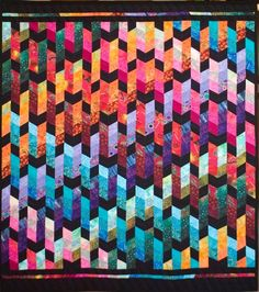 Dazzling Diamonds quilt by Jan Hassard | quilt workshop