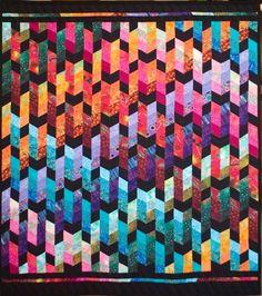 Dazzling Diamonds quilt by Jan Hassard | quilt workshop