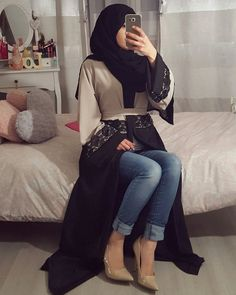 Abaya kimono LAYLA ♡ via Jennah Boutique. Click on the image to see more!