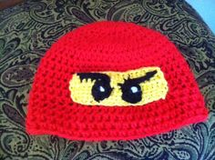 Going to try and make this....Lego Ninjago Crochet winter hat