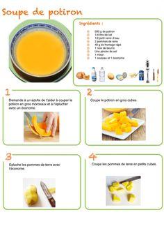 soupe de potiron recette illustrée - Google Search