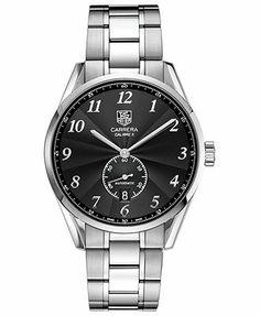 TAG Heuer Watch, Men's Swiss Automatic Carrera Stainless Steel Bracelet 39mm WAS2110.BA0732
