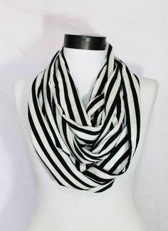 striped infinity scarf / bohemian scarf / long by salihadilber, $15.90