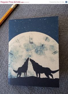 20% OFF SALE Hour of the Wolf Notebook Recycled Pocket #earmarksocialgoods. $5.60