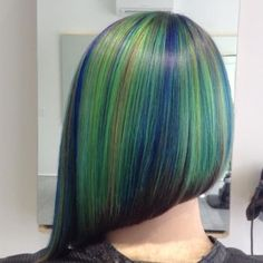 Pravana peacock green blue gold orange