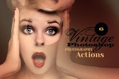 6 Vintage Photo Actions by Cruzine on Creative Market