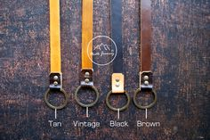 Key Chain Leather lanyard Leather Chain Lanyard by NorthJourney