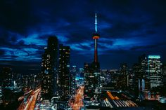 #toronto Toronto Canada, Cn Tower, Wonderful Places, Stranger Things, Ballet, Spaces, Night, City, Photography