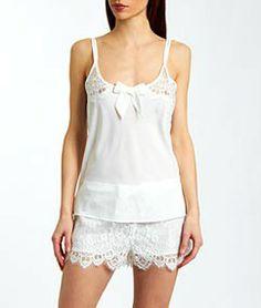 Pyjama short INGENUE WHITE