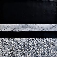 #Original #Abstract #Painting #Encaustic #MixedMedia #Accretion #Art #Wax #Black #White #Letter