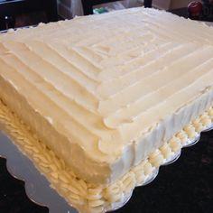 Ribbon wedding sheet cake Wedding Cakes Ive Made Pinterest