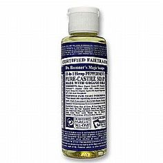 Dr. Bronner's Peppermint Oil Soap not only keeps your skin clean, it also keeps it smelling awesome all day long.