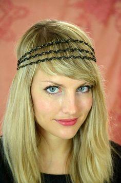Headband Tess triple noir  Les Dormeuses de Madapolam