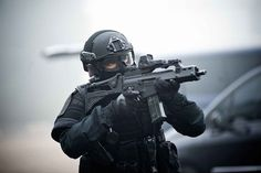 Operator from the RAID, SOF of french national police with a HK G36.