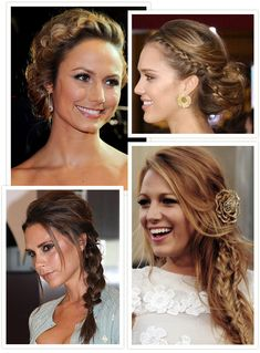 Hairspiration – Plait and Braid Hairstyles for your Wedding Day (braided ponytail blake lively)