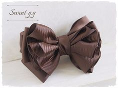 Baby Diy Headbands No Sew Bow Tutorial Ideas Fabric Flower Brooch, Fabric Bows, Fabric Flowers, Making Hair Bows, Diy Hair Bows, Diy Ribbon, Ribbon Work, Fabric Bow Tutorial, No Sew Bow