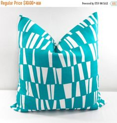 SALE BLUE  Pillow. Outdoor Indoor Pillow by TwistedBobbinDesigns