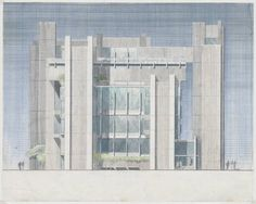 Paul Rudolph. Yale University, Art and Architecture Building.