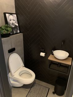 Eiken Toiletmeubel a neutral guest toilet done in taupe and white, an artwork, a wall mounted sink .a neutral guest toilet done in taupe and white, an artwork, a wall mounted sink and a large Small Downstairs Toilet, Small Toilet Room, Guest Toilet, Downstairs Bathroom, Laundry In Bathroom, Bathroom Design Small, Bathroom Interior Design, Bathroom Toilets, Bathroom Inspiration