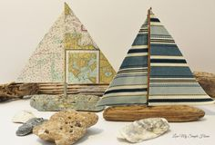 Driftwood map sailboat