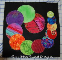 Ovulating Spiral quilt block tutorial using @Pellon wonder under and @Olfa Rotary Circle Cutter