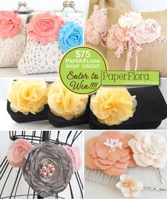 83eb95788a87 Handmade Wedding Giveaway   Win  75 to shop at the  PaperFlora etsy shop  Wedding Freebies