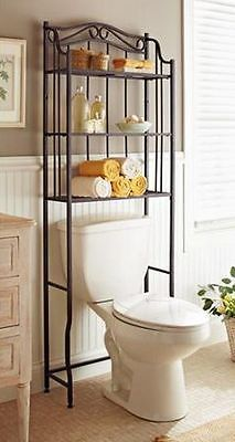 Bathroom Cabinet Over The Toilet Storage Rack Space Saver Shelf Organizer Bronze Bathroom Space Saver