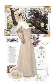"""Celebrity Wedding"" by rever-de-paris ❤ liked on Polyvore featuring Valentino, Badgley Mischka, Aquazzura, M&Co, Blue Nile, Swarovski, wedding, CelebrityWedding and polyvoreeditorial"