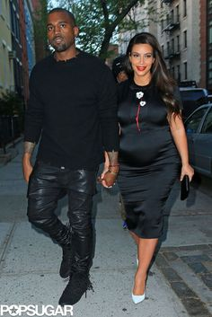 Kanye West and Kim Kardashian held hands and reportedly had dinner with Anna Wintour on Sunday night in NYC.