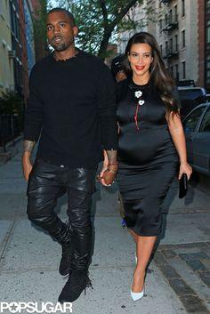 Kanye West and Kim Kardashian in NYC.