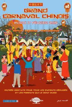 Mardi 17 février à partir de 14h, le Jardin d'Acclimatation fête le Nouvel An Chinois avec un Grand Carnaval Chinois : dragons, danse des lions, percussions…