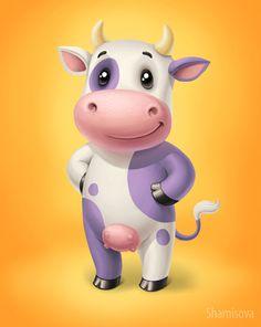 Happy Cow Illustration
