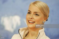 Finland's Kiira Korpi reacts as she listens to the results in the kiss and cry zone after her performance in the Ladies Free Skating competition during the European Figure Skating Championships, 19 January 2006 in Lyon.