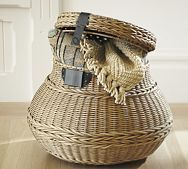 I love the idea of organizing with decorative baskets. Its the easiest way to keep things tidy without much effort