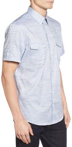 CALIBRATE Military Trim Fit Non-Iron Sport Shirt