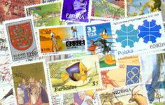 Stamp collecting.